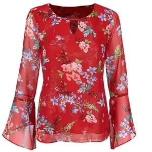 Cabi Devoted Blouse, #3590, Fall 18, Large